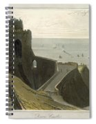 Dover Castle, From A Voyage Around Spiral Notebook