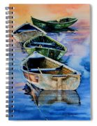 Down East Dories At Dawn Spiral Notebook