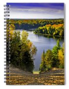 Down Hill Into Fall Spiral Notebook