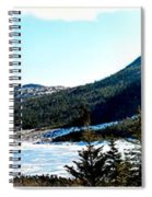 Down In The Valley Triptych Spiral Notebook