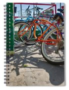 Down Spout And Bikes Spiral Notebook