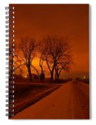 Down The Haunting Road Under The Orange Sky Spiral Notebook