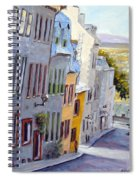 Down The Hill Old Quebec City Spiral Notebook