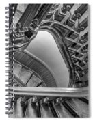 Down The Side - Bw Spiral Notebook