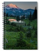 Down The Valley To Rainier Spiral Notebook