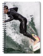 Down The Wave Slope Spiral Notebook