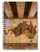 Down Under Map  Spiral Notebook