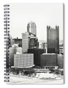 Cold Winter Day In Pittsburgh Pennsylvania Spiral Notebook