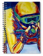 Downhill Racer Spiral Notebook