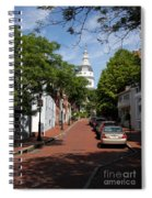 Downtown Annapolis With Maryland State House Cupola Spiral Notebook