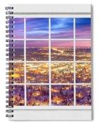 Downtown Boulder Colorado City Lights Sunrise  Window View 8lg Spiral Notebook
