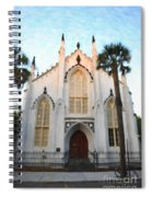 Downtown Charleston Church Spiral Notebook