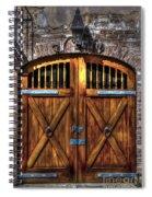 Downtown Charleston Sc Doors Spiral Notebook