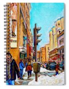 Downtown City Life Spiral Notebook