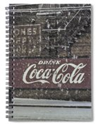Downtown Covered In Snow Spiral Notebook