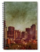 Downtown Denver Antiqued Postcard Spiral Notebook