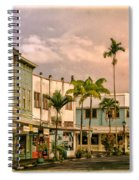 Downtown Hilo Sunday Morning Spiral Notebook