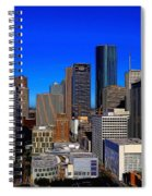 Downtown Houston Painted Spiral Notebook