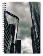 Downtown Houston Skyscrapers In Storm Spiral Notebook