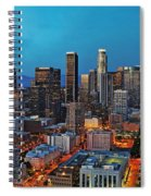 Downtown La Square Spiral Notebook