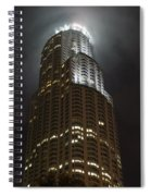 Downtown Los Angeles In The Fog Spiral Notebook