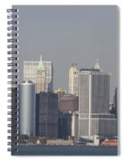 Downtown Manhattan Shot From The Staten Island Ferry Spiral Notebook