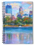 Downtown Minneapolis Skyline From Lake Calhoun Spiral Notebook