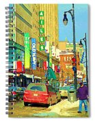 Downtown Montreal Eatons Centre Complex Les Ailes Old Navy Rue Mcgill College City Scenes  C Spandau Spiral Notebook