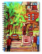 Downtown Montreal Mcgill University Streetscenes Spiral Notebook