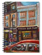 Downtown Montreal Streetscene Spiral Notebook