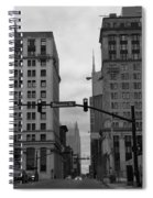Downtown Nashville In Black And White Spiral Notebook