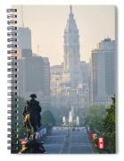 Downtown Philadelphia - Benjamin Franklin Parkway Spiral Notebook
