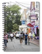 Downtown Scene In Provincetown On Cape Cod In Massachusetts Spiral Notebook
