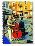 Downtown Street Musicians Perform At The Coffee Shop With Cool Tones On A Hot Summer Day Spiral Notebook