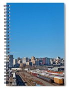 Downtown Tacoma View From The Rail Lines Spiral Notebook
