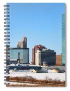 Downtown Toledo Riverfront 7132 Spiral Notebook