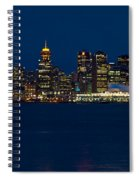 Downtown Vancouver At Night  Spiral Notebook