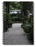 Downward Sloping Part Inside The National Orchid Garden In Singapore Spiral Notebook