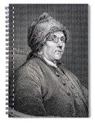 Dr Benjamin Franklin Spiral Notebook