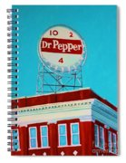 Dr Pepper Sign Roanoke Virginia Spiral Notebook