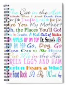 Dr Seuss Books 3 Spiral Notebook