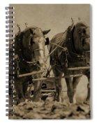 Draft Horses Spiral Notebook