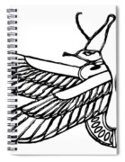 Dragon - Demon Of Ancient Egypt Spiral Notebook