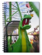 Roar Too The Green Dragon Ride Spiral Notebook