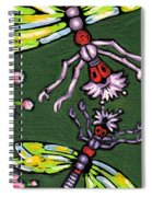 Dragonflies And Water Lilies Spiral Notebook