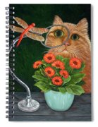 Dragonfly And Cat Spiral Notebook