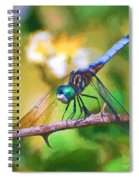 Dragonfly Art - A Thorny Situation Spiral Notebook