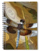 Dragonfly Waiting For A Fly Spiral Notebook