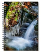 Dragons Teeth Icicles Waterfall Great Smoky Mountains Painted  Spiral Notebook