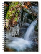 Dragons Teeth Icicles Waterfall Great Smoky Mountains  Spiral Notebook